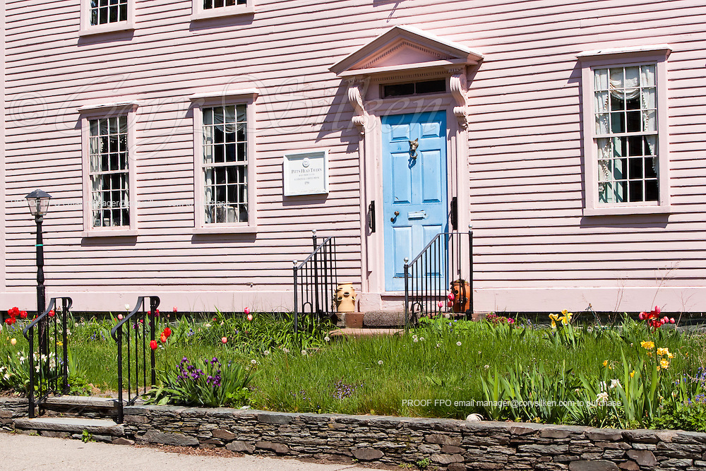 Historic site of the Pitt's Head Tavern. In the Point section of Newport, it was a colonial coffee house in 1759.