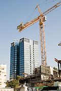 Israel, Tel Aviv, Construction site Of the Tel Aviv Museum of Art - The New Building. Architect Preston Scott Cohen Inc January 2009