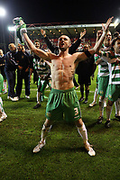 Photo: Rich Eaton.<br /> <br /> Nottingham Forest v Yeovil Town. Coca Cola League 1. Play off Semi Final 2nd Leg. 18/05/2007. Yeovils captain Nathan Jones celebrates victory over Forest by 5-2