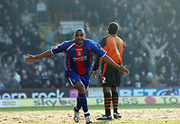 Photo: Kevin Poolman.<br />Crystal Palace v Ipswich Town. Coca Cola Championship. 18/03/2006. <br />Clinton Morrison celebrates his goal for Palace.