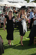 Denise Fox and Dawn Russell, Glorious Goodwood. 31 July 2007.  -DO NOT ARCHIVE-© Copyright Photograph by Dafydd Jones. 248 Clapham Rd. London SW9 0PZ. Tel 0207 820 0771. www.dafjones.com.
