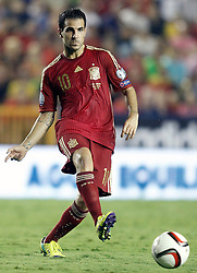 08.09.2014, Estadi Ciutat de Valencia, Valencia, ESP, UEFA Euro 2016 Qualifikation, Spanien vs Mazedonien, Gruppe C, im Bild Spain's Cesc Fabregas // during the UEFA EURO 2016 Qualifier group D match between Spain and Macedonia at the Estadi Ciutat de Valencia in Valencia, Spain on 2014/09/08<br /> <br /> *** NETHERLANDS ONLY ***