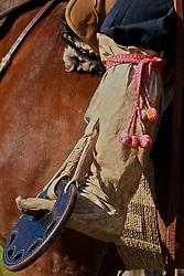 Detalhe para a bota de couro. FOTO: Eduardo Rocha/Preview.com