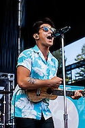 """The New Jersey band """"For the Foxes"""" performed at the Shoreline Amphitheater on June 22, 2013 during the 2013 Vans Warped Tour. The four members are Nicholas Francis (vocals), Jimmy Brindley (guitar), Danny Vassallo (drums) and<br /> Jonathan Brunner (bass)."""