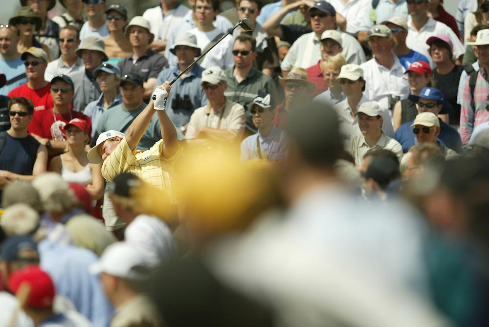 Ernie Els..2003 British Open..Fourth Round..Royal St. George's Golf Club..Sandwich, Kent, England..Sunday, July 20  2003..photograph by Darren Carroll