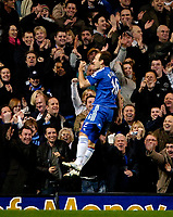Photo: Ed Godden/Sportsbeat Images.<br />Chelsea v Wigan Athletic. The Barclays Premiership. 13/01/2007. Chelsea's Arjen Robben celebrates after putting them 3-0 ahead.
