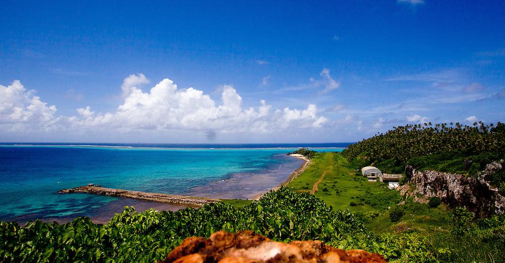 Lush Coastline and Aqua-Marine Waters, Fiji