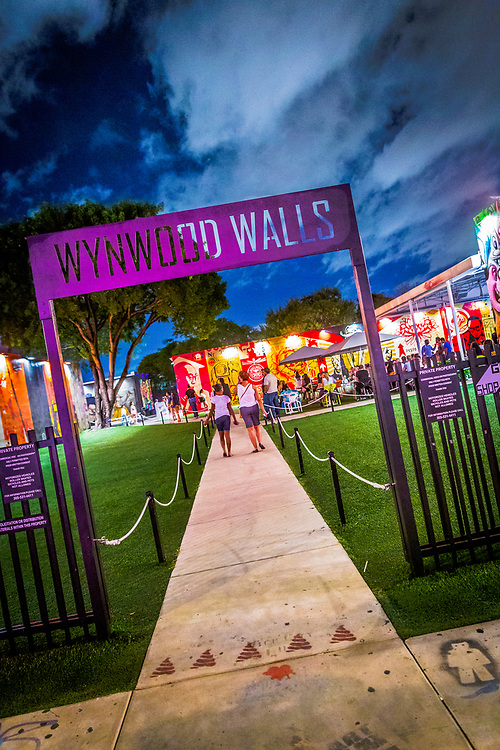 Entrance to Miami's world renowned Wynwood Walls, an outdoor, street art museum