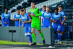 Barrow players make their way onto the pitch - Mandatory by-line: Ryan Crockett/JMP - 05/09/2020 - FOOTBALL - Pride Park Stadium - Derby, England - Derby County v Barrow - Carabao Cup