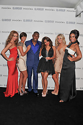 Pop group The Saturdays and DIZZIE RASCAL at the Glamour Women of The Year Awards 2011 held in Berkeley Square, London W1 on 7th June 2011.