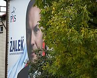 Zdjecie ilustracyjne. Plakaty wyborcze w Bialymstoku przed wyborami samorzadowym 2018 N/z plakaty wyborcze dwoch najwiekszych konkurentow o fotel prezydenta miasta - urzedujacego prezydenta Tadusza Truskolaskiego oraz kandydata Zjednoczonej Prawicy Jacka Zalka  fot Michal Kosc / AGENCJA WSCHOD