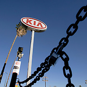 A Los Angeles Kia auto dealership was recently closed down.