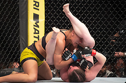 March 16, 2019 - London, United Kingdom - Molly McCann beats Priscila Cachoeira by decision during UFC Fight Night 147 at the London O2 Arena, Greenwich on Saturday 16th March 2019. (Credit Image: © Mi News/NurPhoto via ZUMA Press)