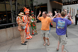 Mummers entertainers and dancers..Philadelphia, Pennsylvania, PA USA.  Photo copyright Lee Foster, 510-549-2202, lee@fostertravel.com, www.fostertravel.com. Photo 304-30868