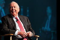 A conference photograph of T. Boone Pickens  at the LNG Conference in Houston.