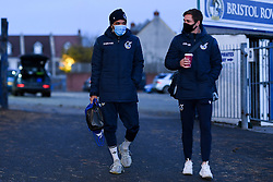 Jayden Mitchell-Lawson of Bristol Rovers and Bristol Rovers and Sam Nicholson of Bristol Rovers arrives at Memorial Stadium prior to kick off - Mandatory by-line: Ryan Hiscott/JMP - 03/11/2020 - FOOTBALL - Memorial Stadium - Bristol, England - Bristol Rovers v Peterborough United - Sky Bet League One