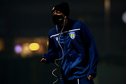 A Colchester United wears a face covering - Mandatory by-line: Ryan Crockett/JMP - 20/11/2020 - FOOTBALL - One Call Stadium - Mansfield, England - Mansfield Town v Colchester United - Sky Bet League Two