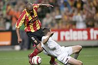 Fotball<br /> Foto: Dppi/Digitalsport<br /> NORWAY ONLY<br /> <br /> INTERTOTO CUP 2005/2006 - FINAL - 2ND LEG - RC LENS v CFR CLUJ - 23/08/2005<br /> <br /> DANIEL COUSIN (LENS) / ALIN MINTEUAN (CLUJ)