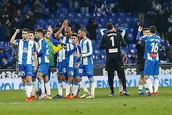 January 17, 2019 - Barcelona, Catalonia, Spain - RCD Espanyol players celebrates the victory during the match RCD Espanyol v Villarreal CF, for the round of 16 of the Copa del Rey played at Camp Nou  on 17th January 2019 in Barcelona, Spain. (Credit Image: © Mikel Trigueros/NurPhoto via ZUMA Press)