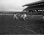 15/02/1970<br /> 02/15/1970<br /> 15 February 1970<br /> National Hurling League: Cork v Dublin at Croke Park, Dublin. <br /> Cork, well outnumbered by the Dublin defence, keeps up the attack while Dublin leads by a goal.