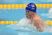 Adam Peaty on his way to Gold in the 50m Breaststroke during Day 13 of the 2016 LEN European Aquatics Championship Swimming Finals at the London Aquatics Centre, London, United Kingdom on 21 May 2016. Photo by Martin Cole.