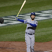 Eric Hosmer, Kansas City Royals, batting during the New York Mets Vs Kansas City Royals, Game 5 of the MLB World Series at Citi Field, Queens, New York. USA. 1st November 2015. Photo Tim Clayton