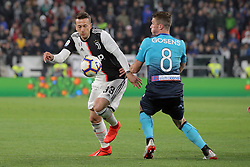 May 19, 2019 - Turin, Turin, Italy - Federico Bernardeschi #33 of Juventus FC competes for the ball with Robin Gosens #8 of Atalanta BC during the serie A match between Juventus FC and Atalanta BC at Allianz Stadium on May 19, 2019 in Turin, Italy. (Credit Image: © Giuseppe Cottini/NurPhoto via ZUMA Press)