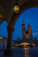 Saint Mary's Church at the Main Market Square in Kraków, Poland 2018.
