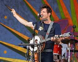 May 3, 2018 - New Orleans, Louisiana, U.S - KETCH SECOR of Old Crow Medicine Show during 2018 New Orleans Jazz and Heritage Festival at Race Course Fair Grounds in New Orleans, Louisiana (Credit Image: © Daniel DeSlover via ZUMA Wire)