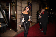 LISA CUNDY, Memphis, The Musical. Press night and after party. Shaftesbury Theatre, London WC2 and party at Floridita, Wardour st. Soho.