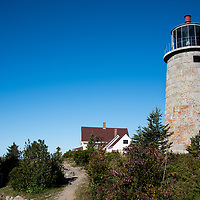 Built in 1850 on a hill near the center of Monhegan Island, the complex has the tower, a keeper's house and oil house.  It is 47 feet tall.