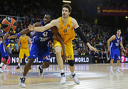 January 19, 2017 - Barcelona, Catalonia, Spain - Bryant Dunston and Ante Tomic during the match between FC Barcelona and Anadolu Efes, corresponding to the week 17 of the Euroleague, on 19 January  2017. (Credit Image: © Joanvalls/NurPhoto via ZUMA Press)