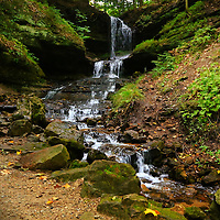 """""""Horseshoe Falls""""<br /> <br /> Lovely Horseshoe Falls surrounded by wonderful woodlands on a wet and rainy day!!<br /> <br /> Waterfalls by Rachel Cohen"""