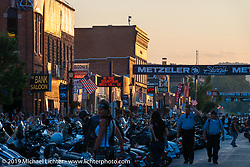 Main Street during the annual Black Hills Motorcycle Rally. Sturgis, SD, USA. August 8, 2014.  Photography ©2014 Michael Lichter., 2014.