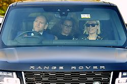 Mike Tindall and Zara Tindall arriving for the Queen's Christmas lunch at Buckingham Palace, London.