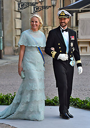Crown Prince Haakon, and Crown Princess Mette-Marit of Norway attend the wedding of Princess Madeleine of Sweden and Christopher O'Neill, at the Royal Chapel, in The Royal Palace in Stockholm, Sweden, June 8, 2013 . Photo by Schneider-Press / i-Images. .UK & USA ONLY