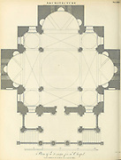 Copperplate engraving of a design for a chapel From the Encyclopaedia Londinensis or, Universal dictionary of arts, sciences, and literature; Volume II;  Edited by Wilkes, John. Published in London in 1810