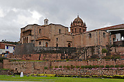The Temple of  Koricancha in Cusco, Peru, It was the the temple of the sun during the Inca emprire but the spanish destroy it to built on top the Dominican Convent of Santo Domingo around the year 1540.