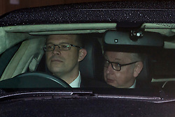 © Licensed to London News Pictures. 20/02/2016. London, UK. MICHAEL GOVE MP leaving a 'Vote Leave' meeting in Westminster  after announcing he will vote against UK membership of the EU. . Photo credit: Ben Cawthra/LNP