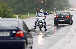 Police in Slovenske Konjice at 3rd stage of Tour de Slovenie 2009 from Lenart to Krvavec, 175 km, on June 20 2009, Slovenia. (Photo by Vid Ponikvar / Sportida)