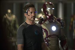 RELEASE DATE: May 3, 2013.STUDIO: Paramount Pictures.DIRECTOR: Shane Black.PLOT: Tony Stark is faced with fighting Mandarin, a villain who goes on to destroy his personal world, leading Stark to go after those held responsible while trying to find out if 'the man makes the suit' or 'the suit makes the man'..PICTURED: ROBERT DOWNEY JR. as Tony Stark.(Credit Image: © Paramount Pictures/Entertainment Pictures/ZUMAPRESS.com)