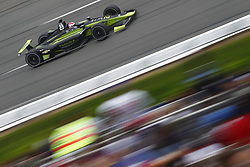 August 19, 2018 - Long Pond, Pennsylvania, United Stated - CHARLIE KIMBALL (23) of the United States battles for position during the ABC Supply 500 at Pocono Raceway in Long Pond, Pennsylvania. (Credit Image: © Justin R. Noe Asp Inc/ASP via ZUMA Wire)