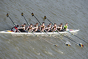 Chiswick, London, Great Britain.<br /> Shiplake College J15 Champ eight, competing in the 2016 Schools Head of the River Race, Reverse Championship Course Mortlake to Putney. River Thames.<br /> <br /> Thursday  17/03/2016<br /> <br /> [Mandatory Credit: Peter SPURRIER;Intersport images]