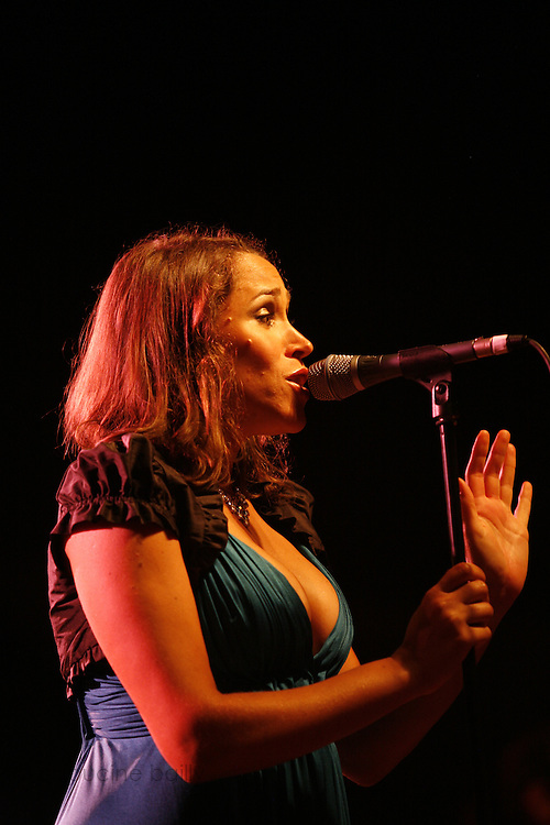 Cimiez-Nice, France. July 26th 2008..Pink Martini's singer China Forber at the Nice jazz Festival.