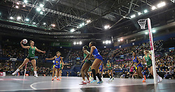 General action between Celtic Dragons and Team Bath Netball during the Vitality Netball Superleague Super Ten match held at Arena Birmingham