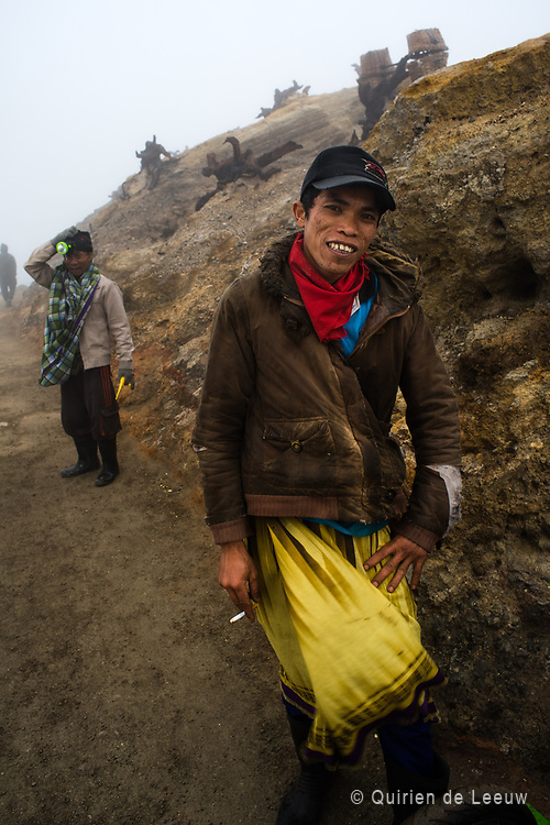 A young mineworker at Ijen volcano on Java Island