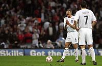 Photo: Paul Thomas/Sportsbeat Images.<br /> England v Croatia. UEFA European Championships Qualifying. 21/11/2007.<br /> <br /> Steven Gerrard of England tries to encourage his team.