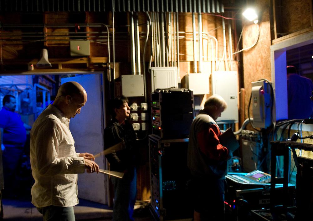 Tom Van Schaik, drummer. Robert Earl Keen and the Robert Earl Keen Band live in concert at Brewster Street in Corpus Christi, Texas on Saturday, December 27 2008. Photograph © 2008 Darren Carroll