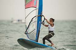 31.07.2012, Bucht von Weymouth, GBR, Olympia 2012, Windsurfen, im Bild RS:X Women, Detre Diana (HUN) . EXPA Pictures © 2012, PhotoCredit: EXPA/ Juerg Kaufmann ***** ATTENTION for AUT, CRO, GER, FIN, NOR, NED, POL, SLO and SWE ONLY!