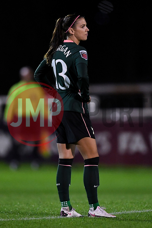 Alex Morgan of Tottenham Hotspur Women prior to kick off - Mandatory by-line: Ryan Hiscott/JMP - 14/11/2020 - FOOTBALL - Twerton Park - Bath, England - Bristol City Women v Tottenham Hotspur Women - Barclays FA Women's Super League